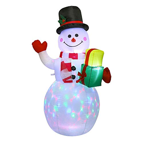 Takefuns, pupazzo di neve gonfiabile a LED, decorazione per esterni, per Natale, Capodanno, giardino, 1,5 m