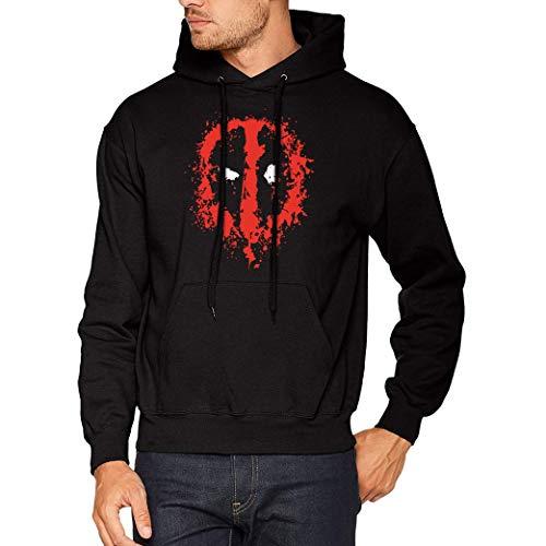 Deadpool Splatter - Sudadera con Capucha para Hombre (M)