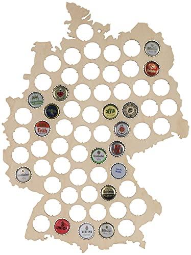 LAUBLUST Bierkarte im Deutschland-Karte Design | 44x33cm | Kronkorken-Sammler Deutschland-Fahne - Lustige Geschenk-Idee