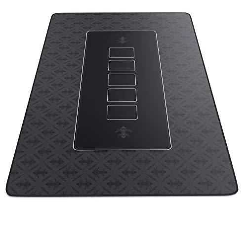 CSL-Computer Profi Pokermatte 1000 x 600 mm | XXL-Format | Pokerteppich Pokertischauflage | Gummiunterseite für stabilen Halt | abwaschbar | Design: Pokermatte | schwarz