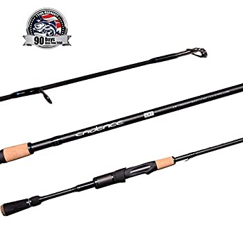 Cadence CR7 Spinning Rod Fishing Rod with 40 Ton Carbon,Fuji Reel Seat,Durable Stainless Steel Guides with SiC Inserts,Full Assortment of Lengths Actions for Spinning Reels