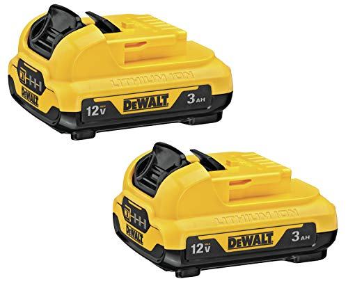 DEWALT DCB124-2 12V MAX 3Ah Lithium Ion Battery (2-Pack)