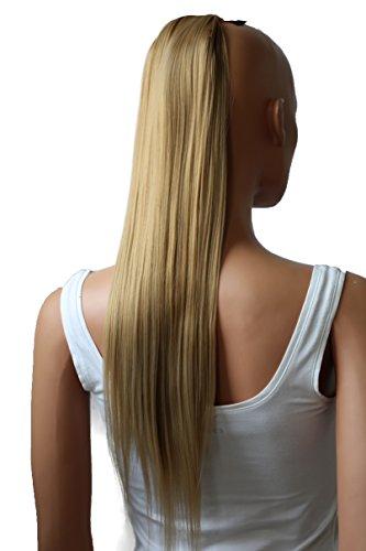 PRETTYSHOP 60cm Haarteil Zopf Pferdeschwanz Haarverlängerung Glatt Aschblond HC23