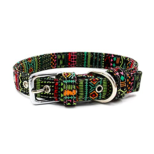 Collar de perro 4pcs suministros para mascotas doble arnés de lona collar colorido ajustable para mascotas