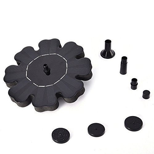 PerGrate Solar Brunnen Wasserpumpe Schwimmende Blume Form Teich Garten Pumpen Zubehör Kit