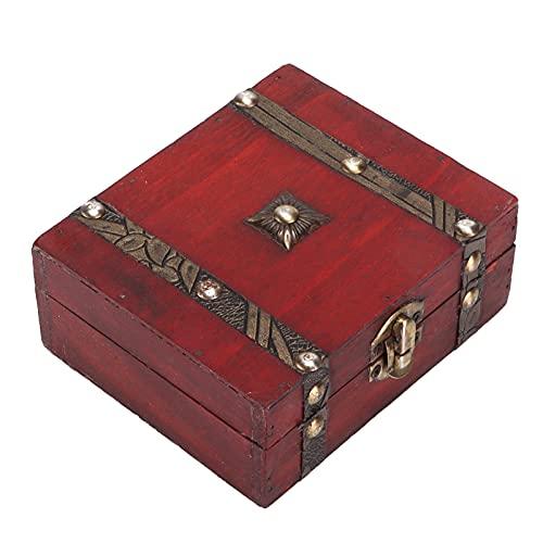 QIRG Cofre Decorativo para Joyas, Caja de Almacenamiento de Madera Tronco de Almacenamiento de Madera Caja de Cofre del Tesoro de Madera Decorativa para el hogar, para la Oficina, para la