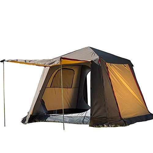3-4 Personen automatische Camping Zelt Double Skin Outdoor Instant Zelte wasserdicht Schatten Baldachin Tarp für Wilderness Survival Bergsteigen-Brown