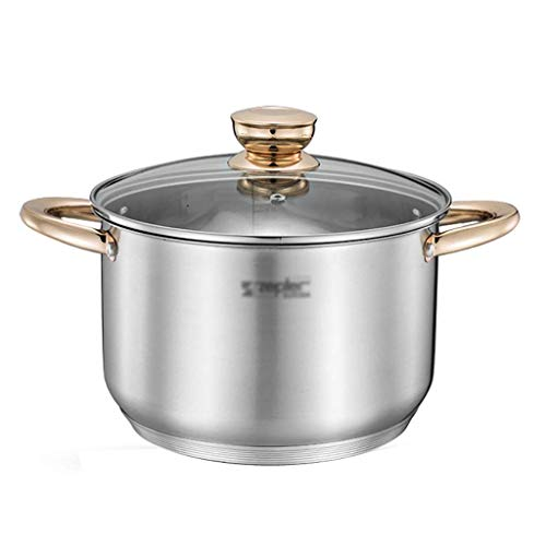 Pentola da brodo in Acciaio Inossidabile 304 pentola per zuppa Spessa per Uso Domestico (1 5    3 6   8L) per pentola a Gas fornello a induzione (Dimensioni: 1 5L)