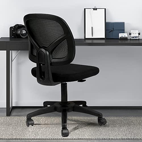 Hbada Sedia da ufficio Sedia girevole Sedia da scrivania Schienale ergonomico senza braccioli...