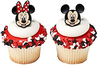 24 Mickey and Minnie Mouse Cupcake Rings Toppers