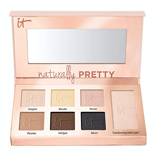 IT Cosmetics Naturally Pretty Essentials - Luxe Eyeshadow Palette - Travel Size - 6 Matte Shades & 1 Transforming Satin Shade - With Anti-Aging Hydrolyzed Collagen, Silk & Peptides - 0.092 oz