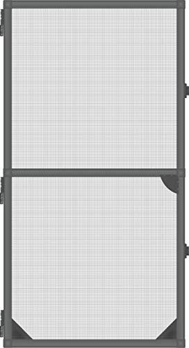 1PLUS Insektenschutz Alu Rahmen System Basis für Türen in Verschiedenen Größen und Farbe (100 x 215 cm, anthrazit)