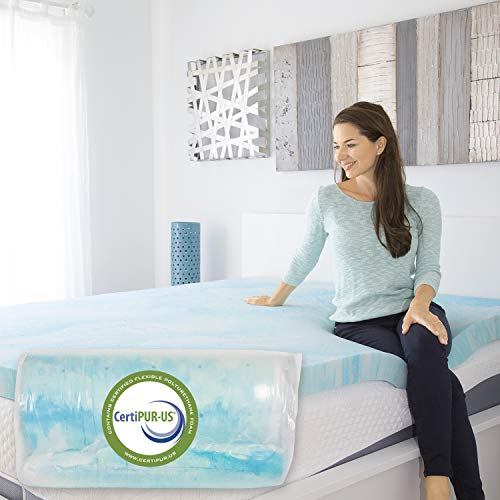 Xtra-Comfort Memory Foam Mattress Topper Queen - 3 Inch Thick Gel Pad for Firm Bed - Soft Sleeping Pillow Top for RV Camping and Dorm - Egg Crate Alternative Luxury Sleep Layer - CertiPUR-US Certified