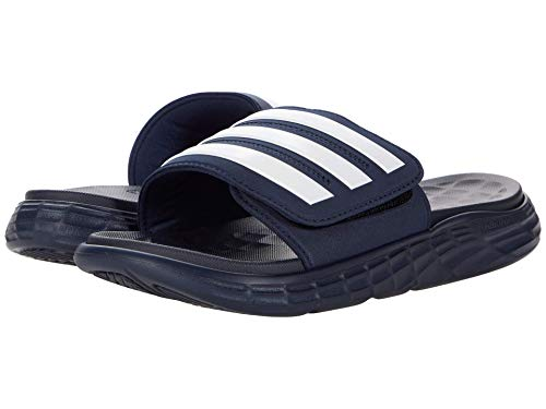 adidas Duramo SL Slides Collegiate Navy/White/Collegiate Navy 10 D (M)