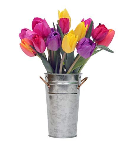 Stargazer Barn - Confetti Bouquet - Colorful Fresh Tulips With Vase - California Grown