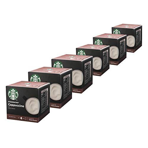 Nescafé Dolce Gusto Starbucks Cappuccino, 6er Set, Kaffeegetränk, Kaffee, Cremig, Kaffeekapsel, Röstkaffee, 6 x 12 Kapseln