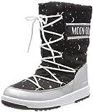 Moon-boot Jr Girl Quilted Universe WP, Stivali da Neve Bambini e Ragazzi, Nero (Nero 001), 37 EU