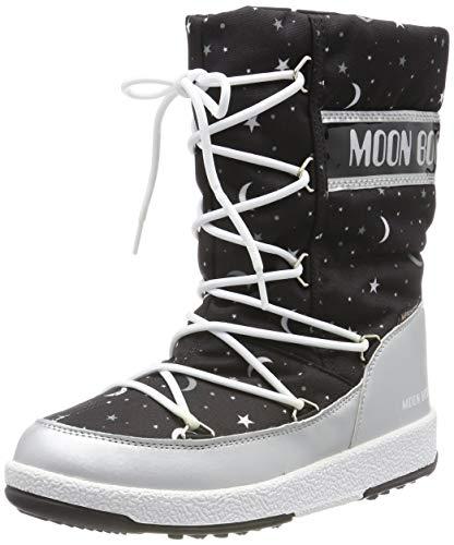 Moon Boot Mädchen Jr Girl Quilted Universe Wp Schneestiefel, Schwarz (Nero 001), 38 EU