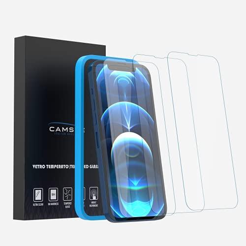 Camste Vetro Temperato Compatibile con Iphone 13 Pro Max con Kit di Installazione - Pellicola Protettiva Oleofobica, Non Lascia Bolle, Durezza 9H
