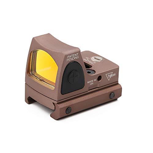Changli Einstellbarer LED roter Punkt Red Dot Sight 3-25 MOA Reflexvisier Einstellbare Helligkeit Pistolen Bereich mit Berg Einstellbare Helligkeit Pistolen-Bereich Braun