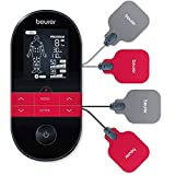 Beurer EM 59 Elettrostimolatore TENS/EMS con Funzione Calore: Terapia del Dolore senza Farmaci e Rafforzamento Muscolare, con Batteria Ricaricabile