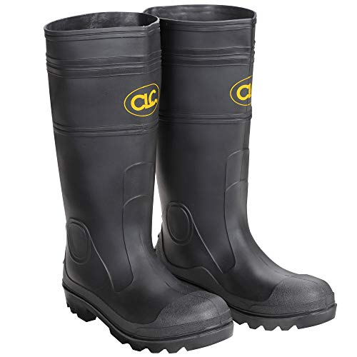 CLC Custom Leathercraft Rain Wear R23008 Over The Sock Black PVC Men's Rain Boot, Size 8