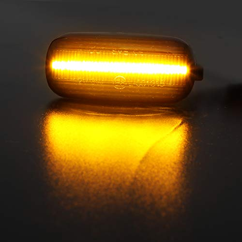 Jinfili Dynamic Flowing SMD Smoke Amber Led Side Marker Turn Signal Light for Audi A3 S3 8P A4 S4 RS4 B6 B7 B8 A6 S6 RS6