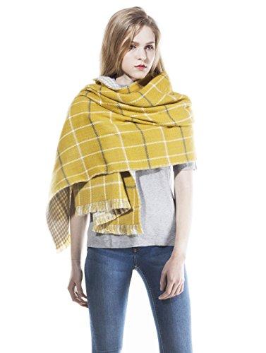 Bufanda larga amarilla estilo pashmina