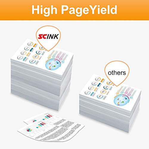 SCINK 950XL 951XL 950 951 Ink Cartridges,Suit for Officejet Pro 8100 8110 8600 8600 Plus 8600 Premium 8610 8615 8616 8620 8625 8630 8640 8660 251dw 276dw Printer 5 Pack (2Black Cyan Magenta Yellow) Photo #2