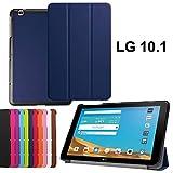 asng LG G Pad X 10.1Hülle–Ultra Slim Leicht Standing Cover für LG G Pad 225,7cm (V940)/LG G Pad X 25,7cm (4G LTE at und T V930) Android 2015Tablet Drak Blue