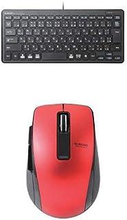 エレコム 有線超薄型ミニキーボード TK-FCP096BK & エレコム Bluetooth(R)4.0 BlueLED 5ボタンマウス M-BT20BBRD セット