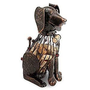 Dog-shaped wine cork holder