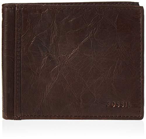 Fossil RFID Flip Id Bifold Wallet para hombre - marr�n - talla única