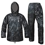 RainRider Rain Suits for Men Women Waterproof Lightweight Rain Gear Jacket Coat with Pants Workwear(Camo,Small)