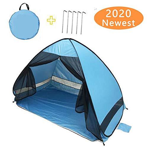 Strandzelt, automatische Strandzelte Sonnenschutz Pop-up, Strandzelt für Baby mit UV-Schutz Pop-up, Camping Sonnenschutz mit Tragetasche für Camping im Freien
