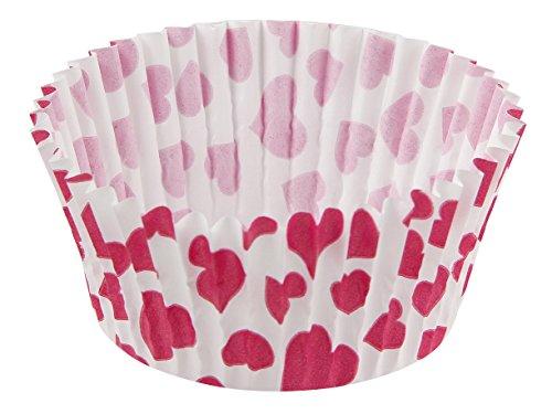 Zenker 50 Papierbackförmchen, Muffinförmchen, Herzen, Papier, Mehrfarbig, Ø 50 x 30 mm, Einheiten