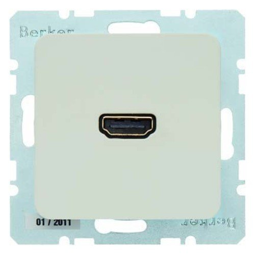 Berker Steckdose High Definition 33154202 weiß glänzend MODUL 2 Multifunktions-Anschlussdose 4011334341697