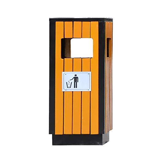 CAIM-vuilnisbakken prullenbak outdoor-vuilnisemmer, rechthoekige houten gemeentelijke hygiëne gerecycled vuilnisbak