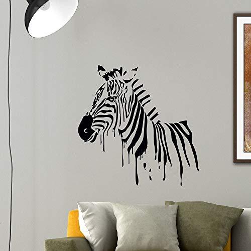 hetingyue Removable Zebra Silhouette Art Wall Sticker Home Decoration Decorative Vinyl Poster Jungle Mural 104x104cm
