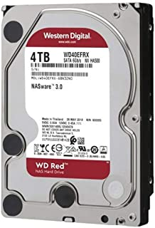 Western Digital WD 4TB Red NAS Hard Disk Drive - 5400 RPM Class SATA 6 Gb/s 64MB Cache 3.5 Inch - WD40EFRX,Black