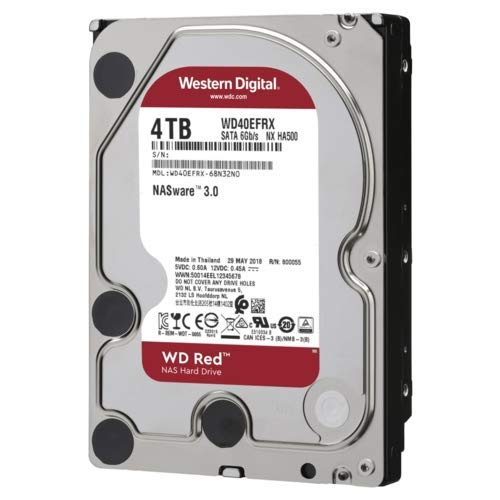 WD Red WD40EFAX Disco duro 3.5' para dispositivos NAS 5400 RPM...