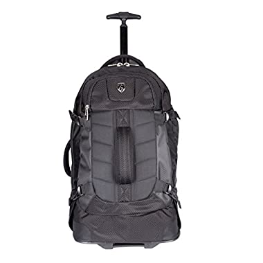 TPRC 23  AEROS Rolling Dual Tone Backpack with Laptop Compartment and EZ-Glide Ball Bearing Wheels, Black Color Option