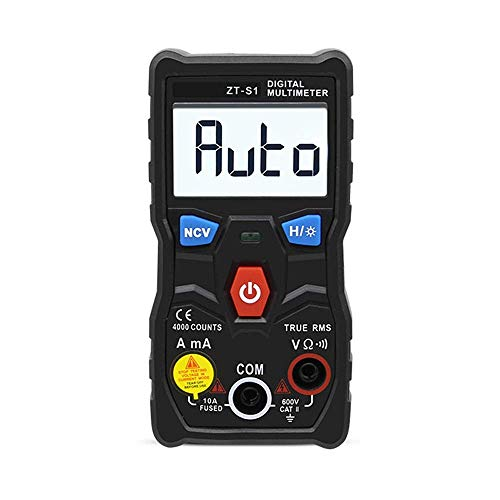 ZGQA-GQA Mini Pocket True-RMS Multímetro digital 4000 cuentas tipo hogar Robotlike Digital Heights Precisión ZT-S1
