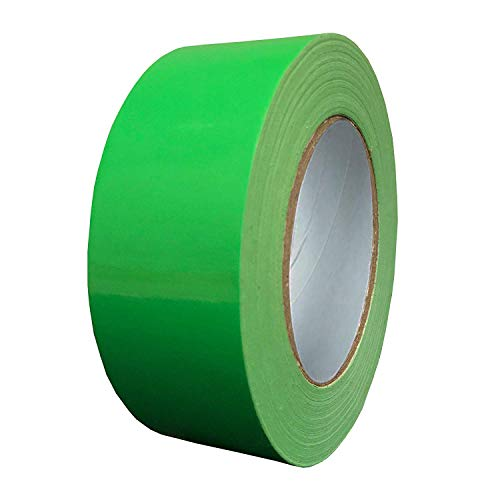 Exa Duct Tape 1.88 Inches x 60 Yards, Duct Tape for Crafts, Extra Strength, No Residue, DIY, Repairs, Indoor Outdoor Use, Book Repair, Must Have Garage Tool (1.88 X 60 Yards) (Hi Vis Green)