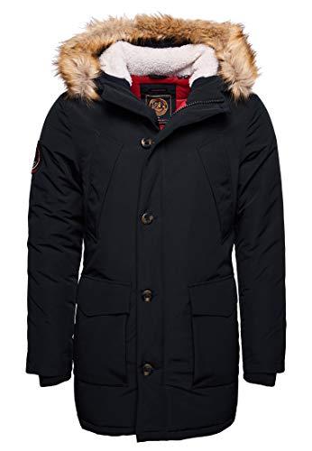 Superdry Heren Everest Parka jas, Blauw, M