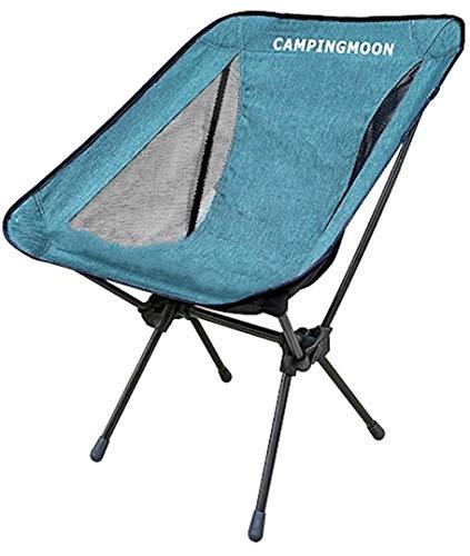 キャンピングムーン(CAMPING MOON) アウトドアチェア ポータブルチェア 椅子 折りたたみ 840Dバリスティックポリエステル・7075超々ジュラルミン製 収納袋付き