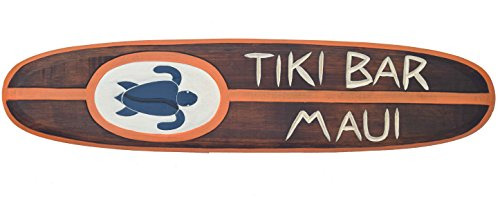 Interlifestyle Tiki Bar Surf 100 cm Hawaii - Decoración para colgar Maui Kaui - Tabla de surf