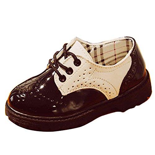Niños Bebé Niños Niños Encaje Cuero Brogues Oxford Zapatos de Vestir Boda...