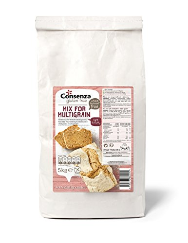 Consenza Mehl für Mehrkorn Brot Glutenfrei Grossverpackung, 1er Pack (1 x 5 kg)