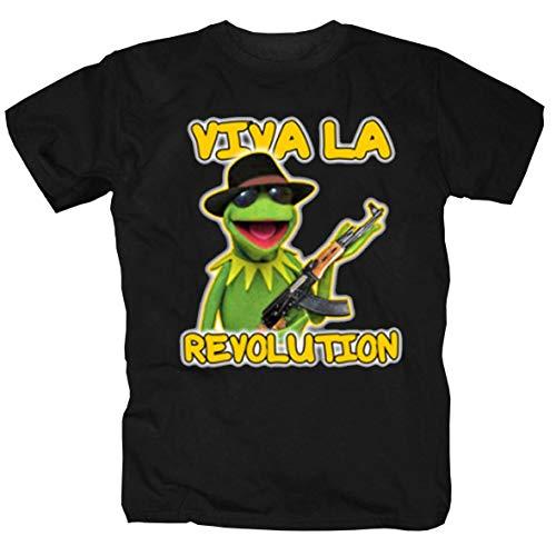 pro-Camicia Kermit Viva la Revolution, Schwarz Large